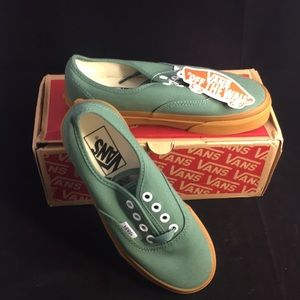 Vans Authentic Duck Green Skate Shoes